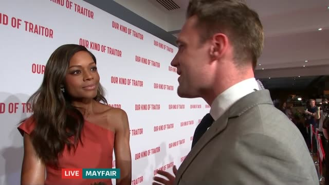 'Our Kind of Traitor' premiere Damian Lewis and Naomie Harris LIVE interview on red carpet SOT