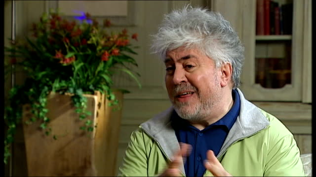 Pedro Almodovar interview Almodovar interview SOT One of biggest problems for Spanish society is the political class right and left now for example...