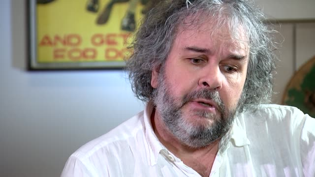 peter jackson interview re wwi documentary, 'they shall not grow old'; england: london: int peter jackson interview sot - re documentary, 'they shall... - documentary film stock videos & royalty-free footage