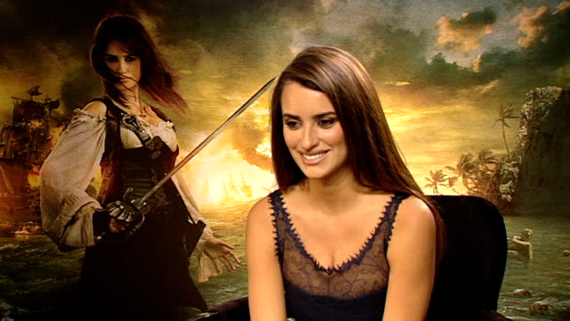 'Pirates of the Caribbean On Stranger Tides' premieres in London INT Penelope Cruz interview with Beatrice SOT On playing a female pirate