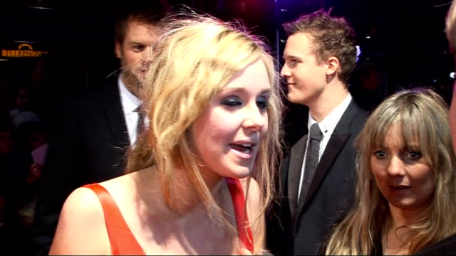 film premiere of 'bedtime stories' celebrity red carpet arrivals england london odeon kensington photography** diana vickers speaking to press on red... - reality fernsehen stock-videos und b-roll-filmmaterial