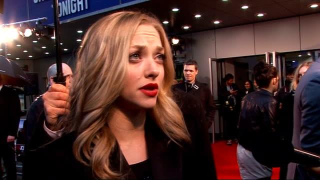 UK film premiere of 'Dear John' in London arrivals of Amanda Seyfried and Channing Tatum Amanda Seyfried speaking to other crew SOT On finding out...