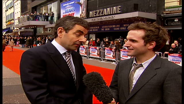 Premiere of 'Mr Bean's Holiday' Rowan Atkinson interview SOT He always has a good time at events like this / probably a better time than I have / if...