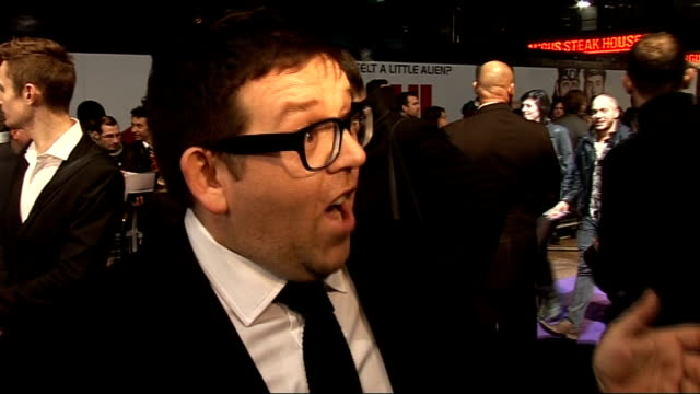 film premiere of 'paul' arrivals and interviews nick frost interview sot on synopsis / on audience leaving with a smile / on leicester sq amazing /... - nick frost actor stock videos & royalty-free footage