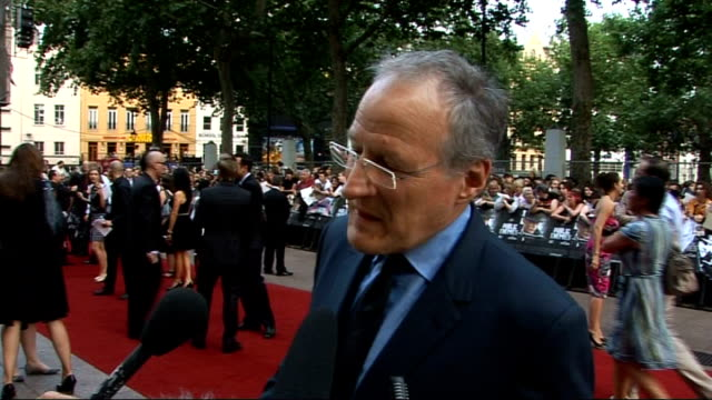 film premiere of 'public enemies' red carpet interviews michael mann interview sot why he wanted johnny depp for the role of john dillinger /... - john dillinger stock-videos und b-roll-filmmaterial