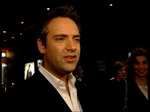the road to perdition itn actor tom hanks sitting chatting to nina nannar tom hanks interview sot he's the finest director i ever worked with sam... - cheek to cheek stock videos & royalty-free footage
