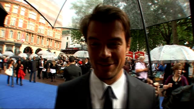 Film premiere 'Transformers Revenge of the Fallen' at Leicester Square Josh Duhamel interview SOT On his favourite part of the movie Back view of...