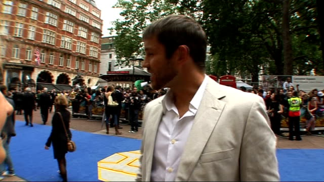 film premiere 'transformers revenge of the fallen' at leicester square side views of matthew marsden speaking to press / matthew marsden interview... - megan fox stock videos and b-roll footage