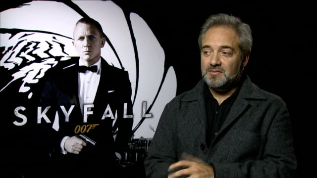 preview of new james bond film skyfall int sam mendes interview sot it deals with things that concern us on a daily basis privacy cyber terrorism... - skyfall 2012 film stock videos and b-roll footage