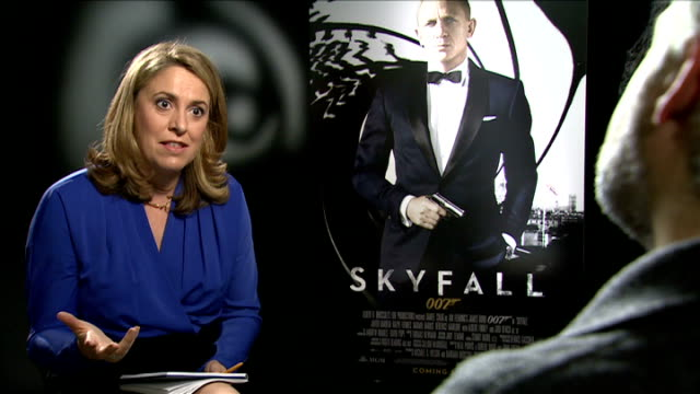 preview of new james bond film skyfall sam mendes interview sot product placement unimportant was opportunity to fit products in - skyfall 2012 film stock videos and b-roll footage