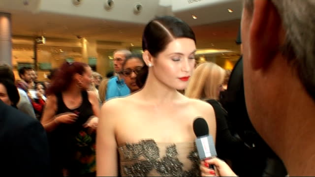 Prince of Persia Sands of Time premiere Red carpet arrivals and interviews General views and close views of Arterton's Valentino dress as interviewed...