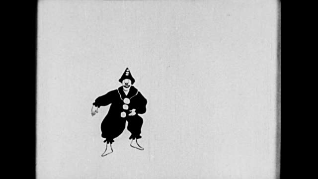 a film projectionist receives an animated drawing of a clown - clown stock videos & royalty-free footage