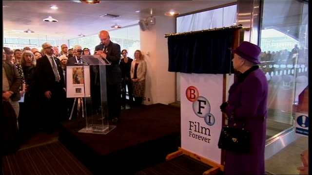 queen elizabeth visits jubilee gardens and bfi southbank greg dyke speech sot queen elizabeth unveils plaque to commemorate her visit/ queen... - greg dyke stock videos & royalty-free footage