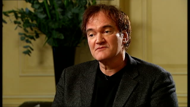 quentin tarantino interview england london int quentin tarantino interview sot - interview stock videos & royalty-free footage