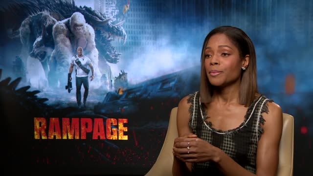 'Rampage' Jeffrey Dean Morgan / Naomie Harris / Malin Akerman junket interviews Naomie Harris interview SOT