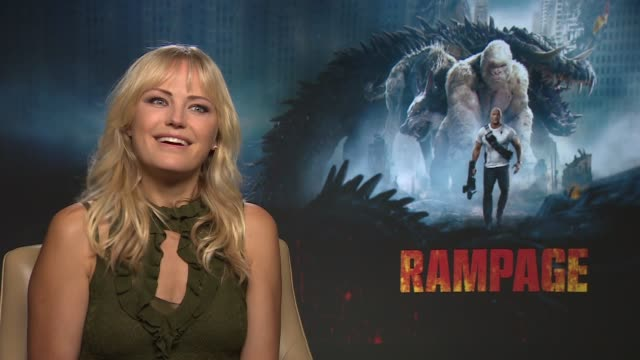 'Rampage' Jeffrey Dean Morgan / Naomie Harris / Malin Akerman junket interviews Malin Akerman interview SOT