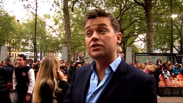 red carpet arrivals and interviews at streetdance 3d premiere; stephen mulhern interview sot - on the journey of the britain's got talent stars / on... - spielkandidat stock-videos und b-roll-filmmaterial