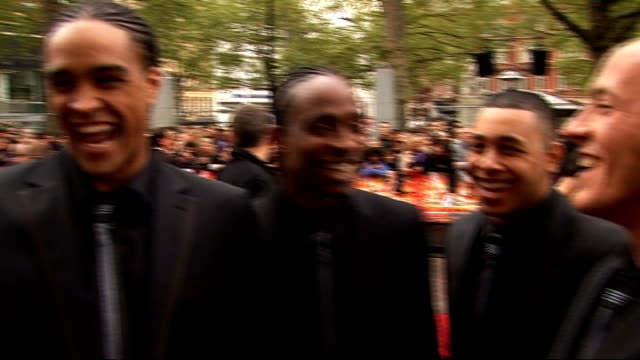 red carpet arrivals and interviews at streetdance 3d premiere; diversity interview sot - on the excitement of their year - first 3d dance movie / on... - britain's got talent stock-videos und b-roll-filmmaterial