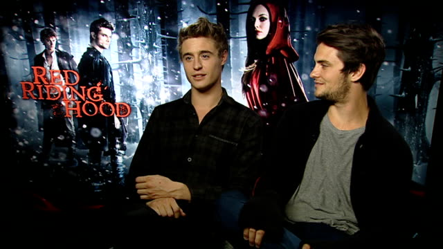 'Red Riding Hood' interviews Max Irons and Shiloh Fernandez joint interview SOT creating sexy dynamic watched sexy movies together wrestled wrote...