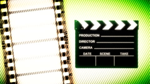 film reel and clapper - dvd stock videos & royalty-free footage
