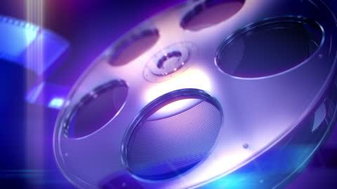 hd: film reel loopable background - spole bildbanksvideor och videomaterial från bakom kulisserna