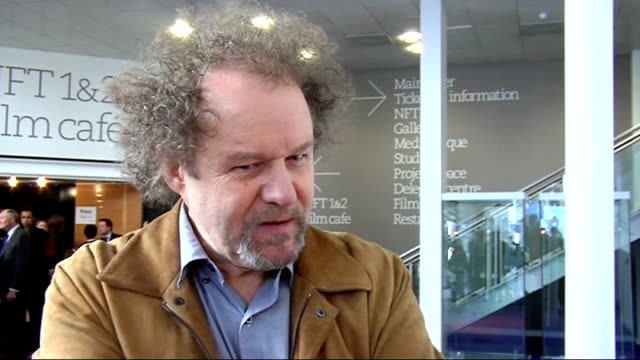film released to promote consideration of others on london's public transport; int mike figgis interview sot - マイク フィギス点の映像素材/bロール