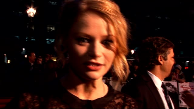 'Remember Me' premiere red carpet arrivals Emilie de Ravin interview SOT On working with Robert Pattinson / fans are great paparazzi can get a bit...