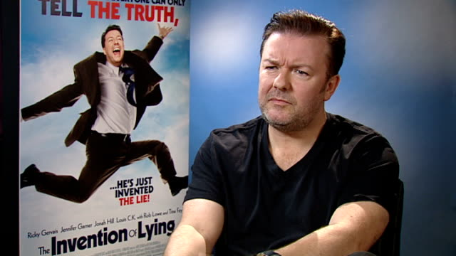 ricky gervais interview england london int ricky gervais interview sot jetlagged / i lie every day whether it's to save people's feelingslittle white... - comedian stock videos and b-roll footage