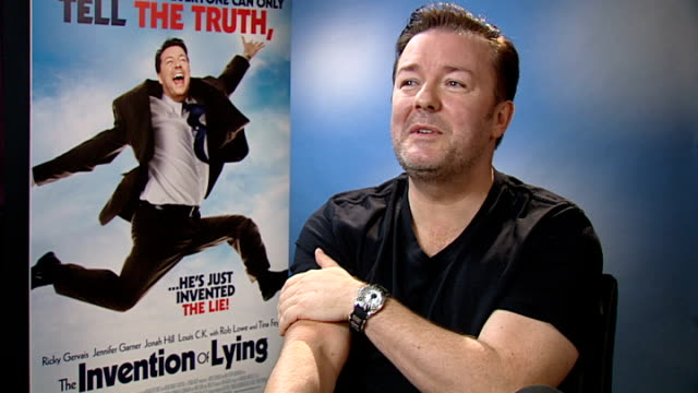 ricky gervais interview gervais interview sot i'm a comedian you have got to laugh to yourself and hopefully other people will if you start taking... - comedian stock videos & royalty-free footage