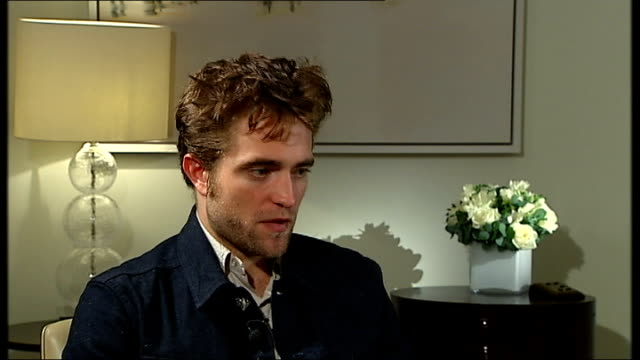 robert pattinson interview pattinson interview sot impossible to think about what an audience wants / always think if you're doing stuff for the... - q and a stock videos & royalty-free footage