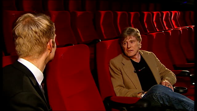 Robert Redford interview on 'Sundance London' festival ENGLAND London 02 INT 'Sundance London' screen at press conference Robert Redford speaking at...