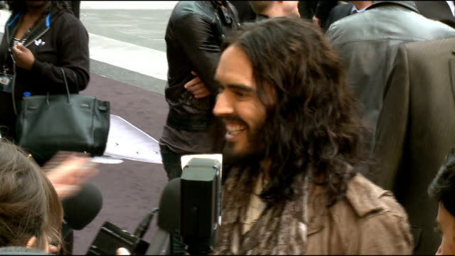 Rock of Ages premiere Malin Akerman red carpet interview SOT Russell Brand talking to press on red carpet/ Mary J Blige talking to press/ Tom Cruise...