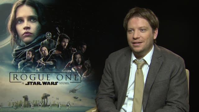 'Rogue One A Star Wars Story' Junket interviews ENGLAND London INT Gareth Edwards interview SOT