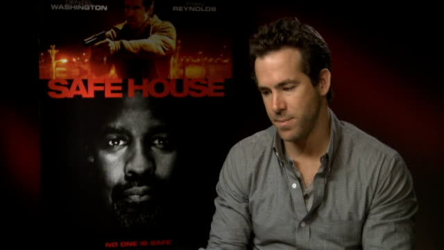 'Safe House' Ryan Reynolds interview ENGLAND London INT Ryan Reynolds interview SOT on the action tiring him out on who would be best under pressure...