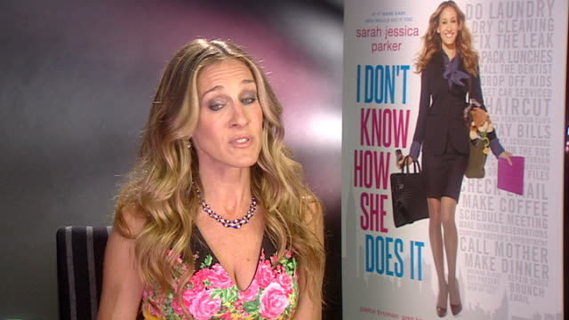 Sarah Jessica Parker interview ITN ENGLAND London INT Sarah Jessica Parker interview SOT On how she copes with motherhood and working Sometimes she...