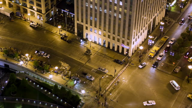 MS POV T/L Film set being setup on wacker drive / Chicago, IL, United States