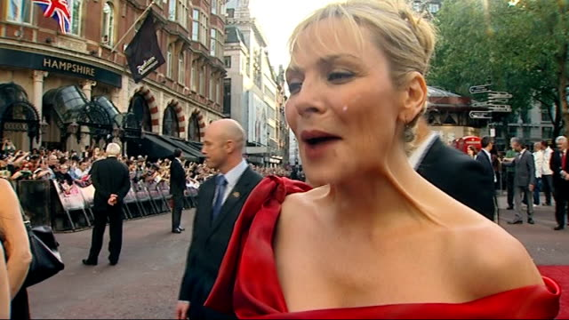 Sex and the City The Movie world premiere in London Kim Catrall interview SOT London is sort of my second home / had great fun making the film /...