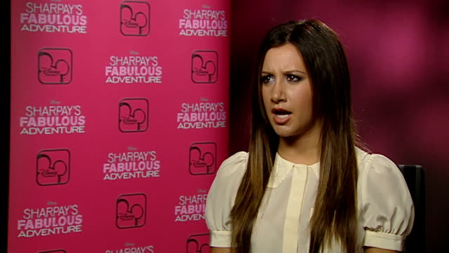 'sharpay's fabulous adventure' ashley tisdale interview ashley tisdale interview sot what she would have been doing if she wasn't acting writing / on... - ashley tisdale stock videos and b-roll footage