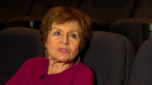 Short film 'Edek' features collaboration between Holocaust survivor and hip hop artist ENGLAND INT Janine Webber set up shot with reporter /...