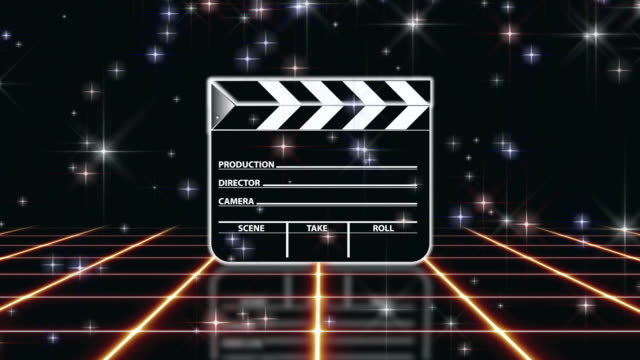 Film Slate Clapboard Background