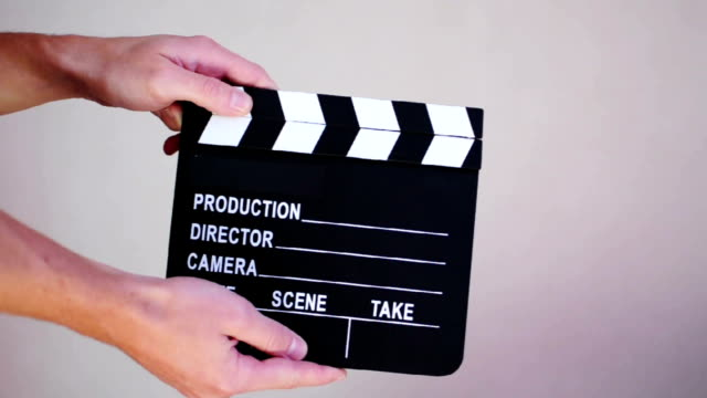 film slate - clapper - film slate stock videos & royalty-free footage
