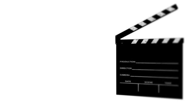 film slate - film slate stock videos & royalty-free footage