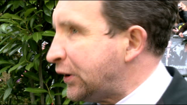 'snow white and the huntsman' premiere gvs eddie marsan interview sot on his character being played by him and a little person eddie marsan interview... - gary glitter stock videos & royalty-free footage