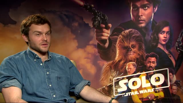 'Solo A Star Wars Story' Junket interviews ENGLAND London INT Alden Ehrenreich interview SOT