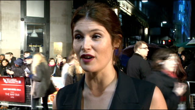 'Song for Marion' London premiere red carpet Gemma Arterton talking to press on red carpet Orla Hill red carpet interview SOT Gemma Arterton red...