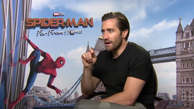 'SpiderMan Far From Home' junket ENGLAND London LANGUAGE** Jake Gyllenhaal interview SOT / Samuel L Jackson interview SOT