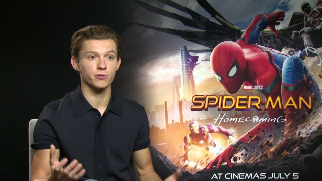 'SpiderMan Homecoming' junket interviews with Tom Holland and Zendaya ENGLAND London INT Tom Holland interview SOT / Zendaya interview SOT