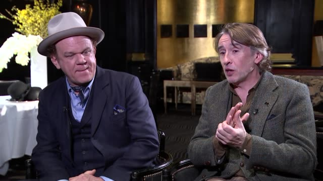 steve coogan and john c. reilly interview; england: london: int john c reilly and steve coogan interview sot part 4 of 4 - steve coogan stock videos & royalty-free footage