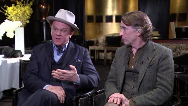 steve coogan and john c. reilly interview; england: london: int john c reilly and steve coogan interview sot part 1 of 4 - steve coogan stock videos & royalty-free footage