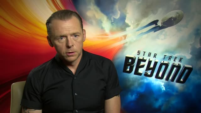 star trek beyond junket interviews england london int simon pegg interview sot/ zachary quinto sofia boutella and chris pine interview sot/ - zachary quinto stock videos and b-roll footage